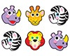 T 46058 ZOO ANIMALS SHAPE STICKERS
