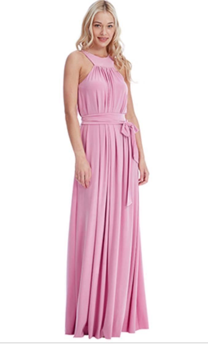 Floor Length Dress - Blush Pink Bridesmaids Maxi Dress