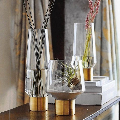 Brass Cuff Vase
