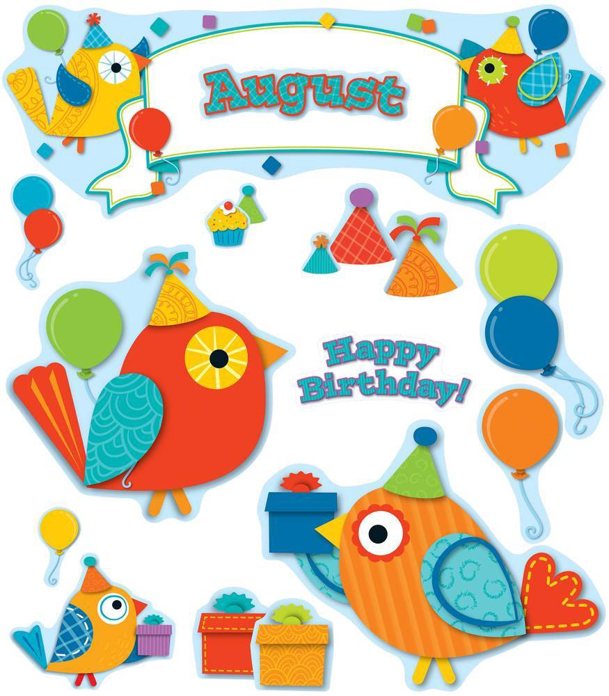 X DC CD 110235 BOHO BIRDS BIRTHDAY BBS