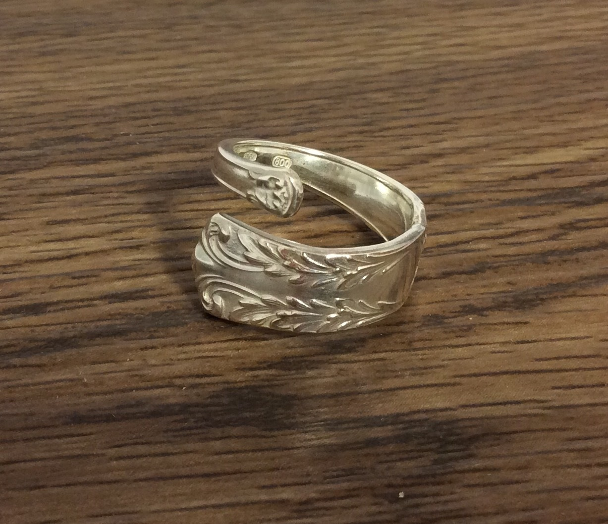 Vintage Italian Sterling Silver Spoon ring - Size O