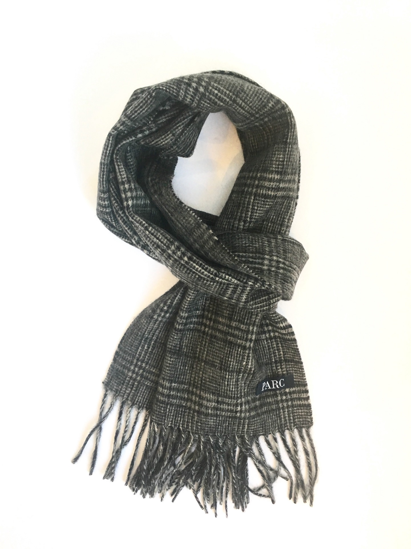 Parc City Boot Co. - Heavy Wool Scarf in Black & White Plaid
