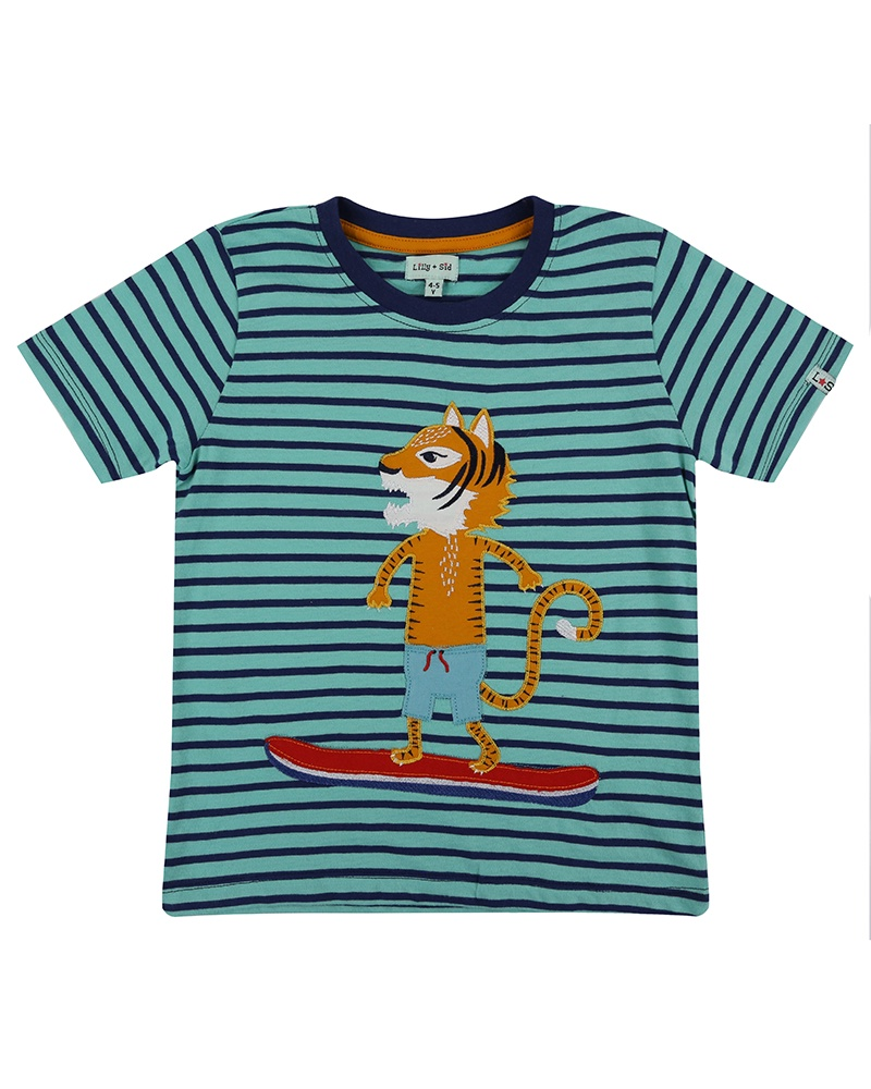 Lilly & Sid APPLIQUE T- MR TIGER