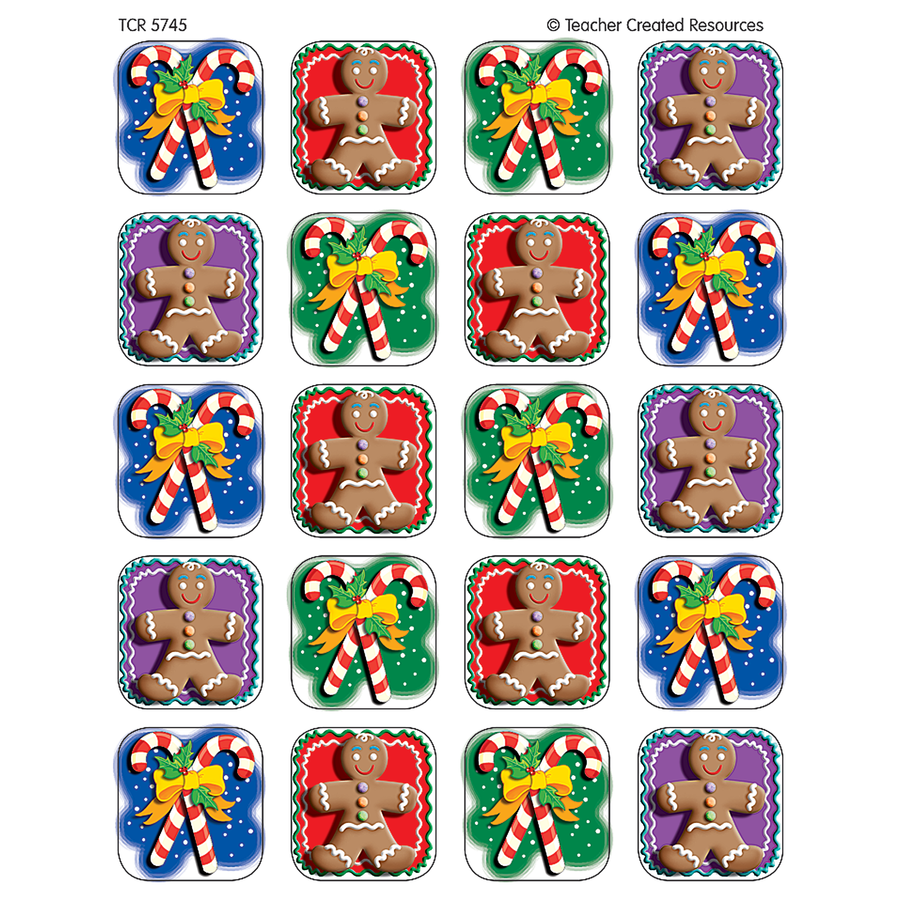 TCR 5745 CANDY CANES GINGER BREAD STICKERS