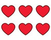 T 46072 RED HEARTS SHAPE STICKERS