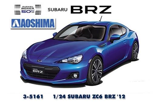 Aoshima #5161 1/24 Subaru ZC6 BRZ
