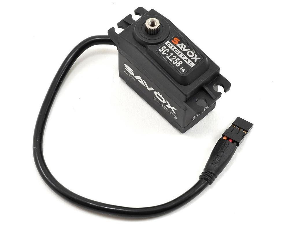 Savox #SC-1258TG-Black Standard Size Digital Servo (12Kg)