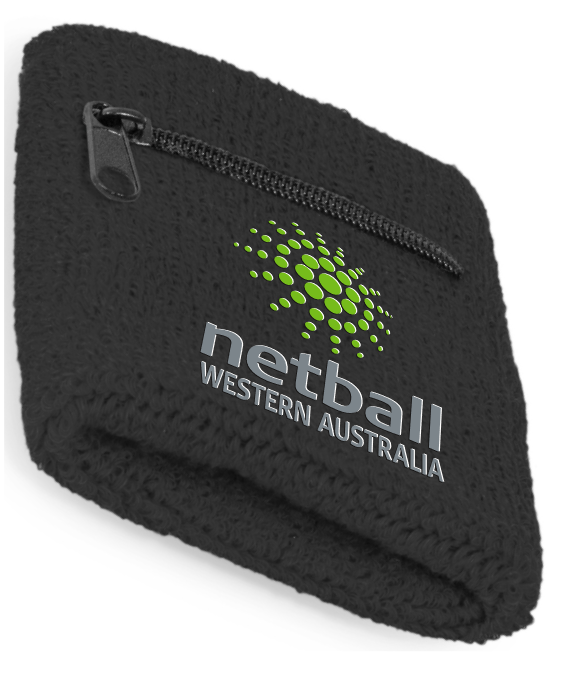 Netball WA Umpire Sweat band - Black