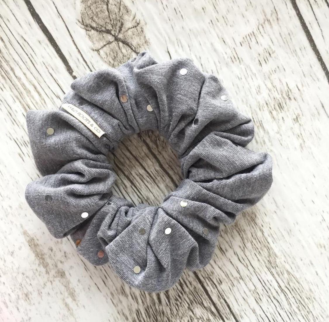 Grey Disco Ball Scrunchie