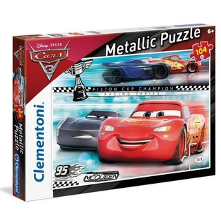 DISNEY CARS PUZZLE METALLIC 104
