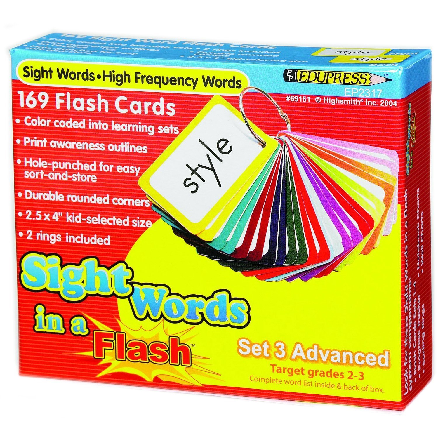 X EP 62317 SIGHT WORDS INA FLASH SET 3 ADVANCED