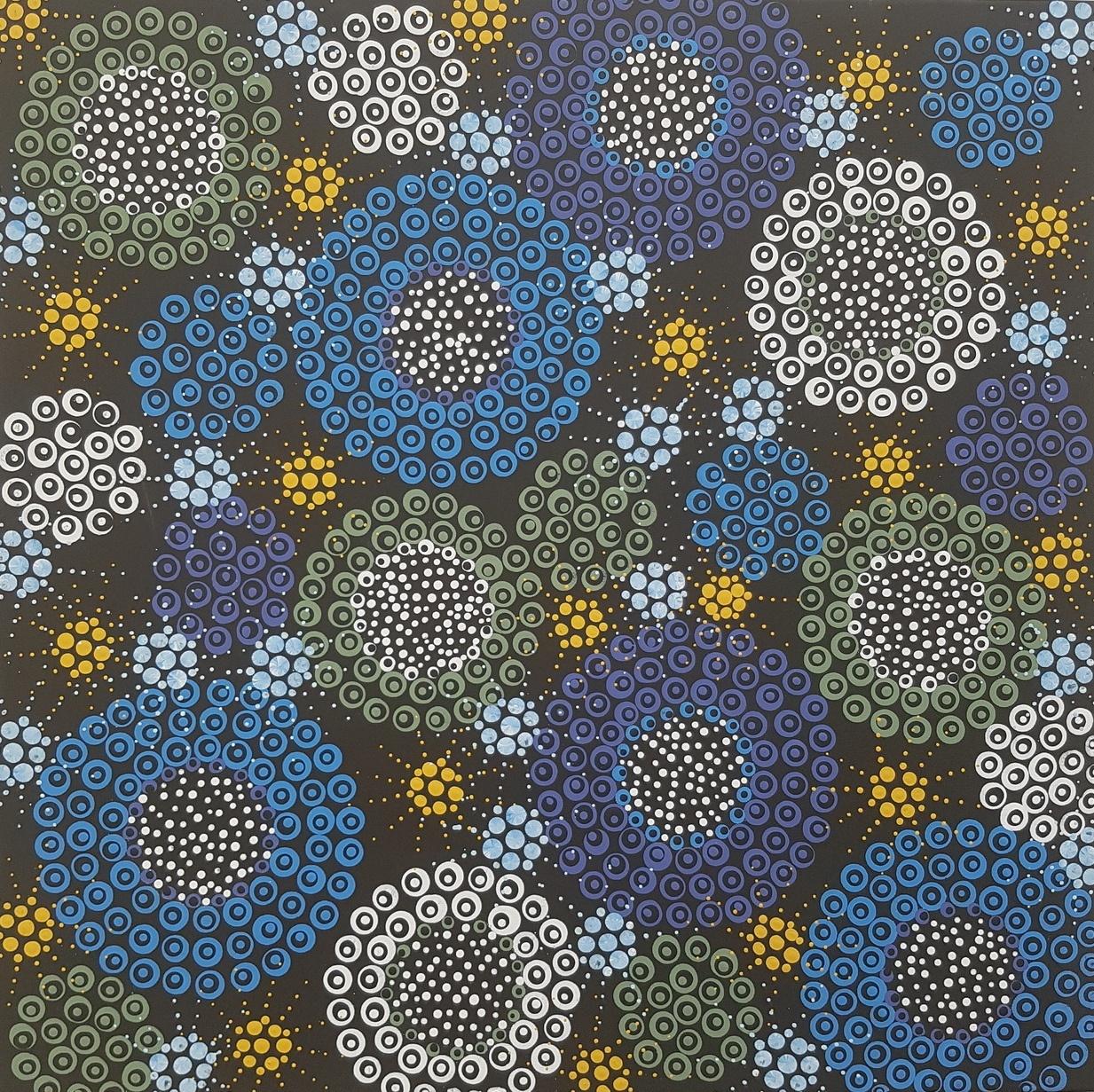 3D dot painting: Blue Bush