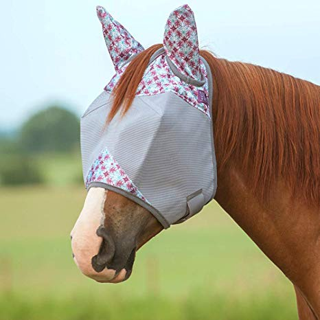 Cashel Standard Fly Mask with Ears Plum Flash