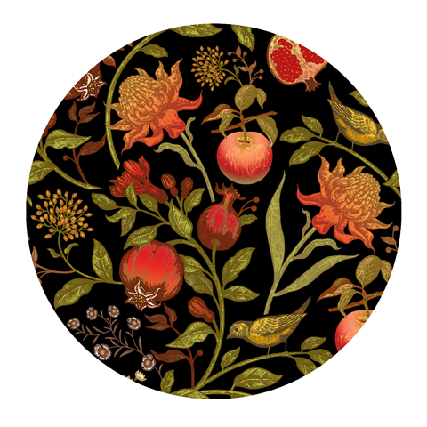 Paper Placemats – Forest Fruits - Matte Round 30pk