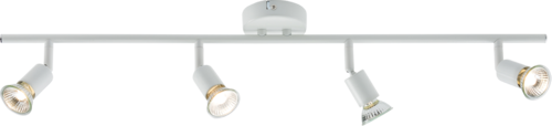 230V GU10 Quad Bar Spotlight - White