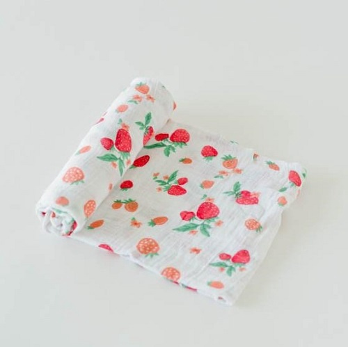 Cotton Swaddle | Strawberry