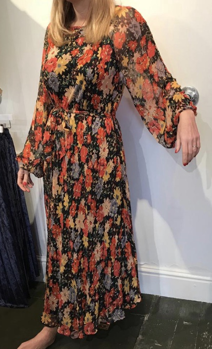 Midnight Floral Indian Sunset Dress by Lily & Lionel