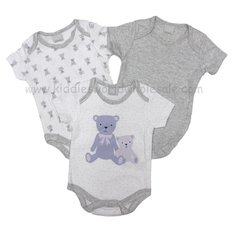 Baby unisex bear 3 pack vests