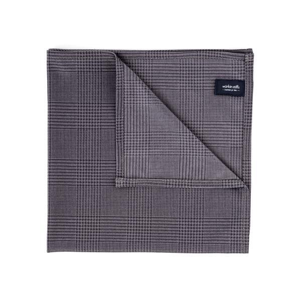 WURKIN STIFF - POCKET SQUARE IN BLACK PLAID