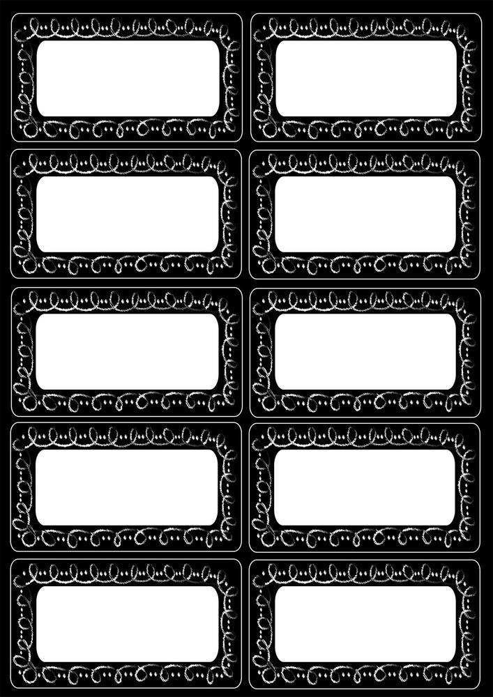 AP 19014 LARGE MAG LABELS/NAMEPLATES CHALKLOOPS