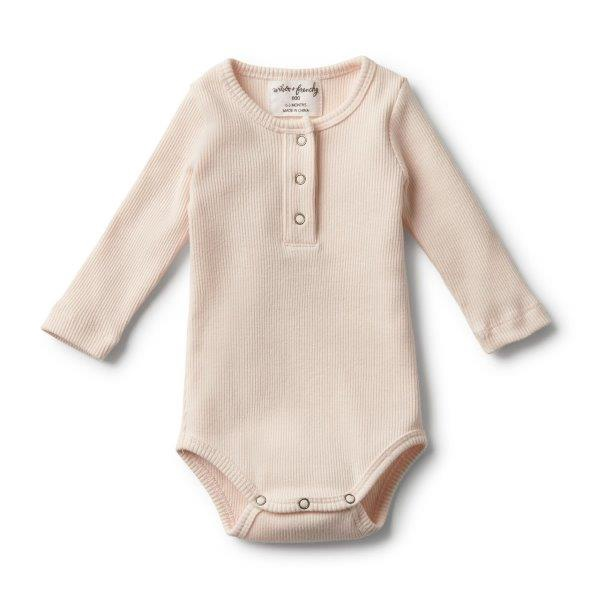 WF OYSTER RIB LONG SLEEVE BODYSUIT