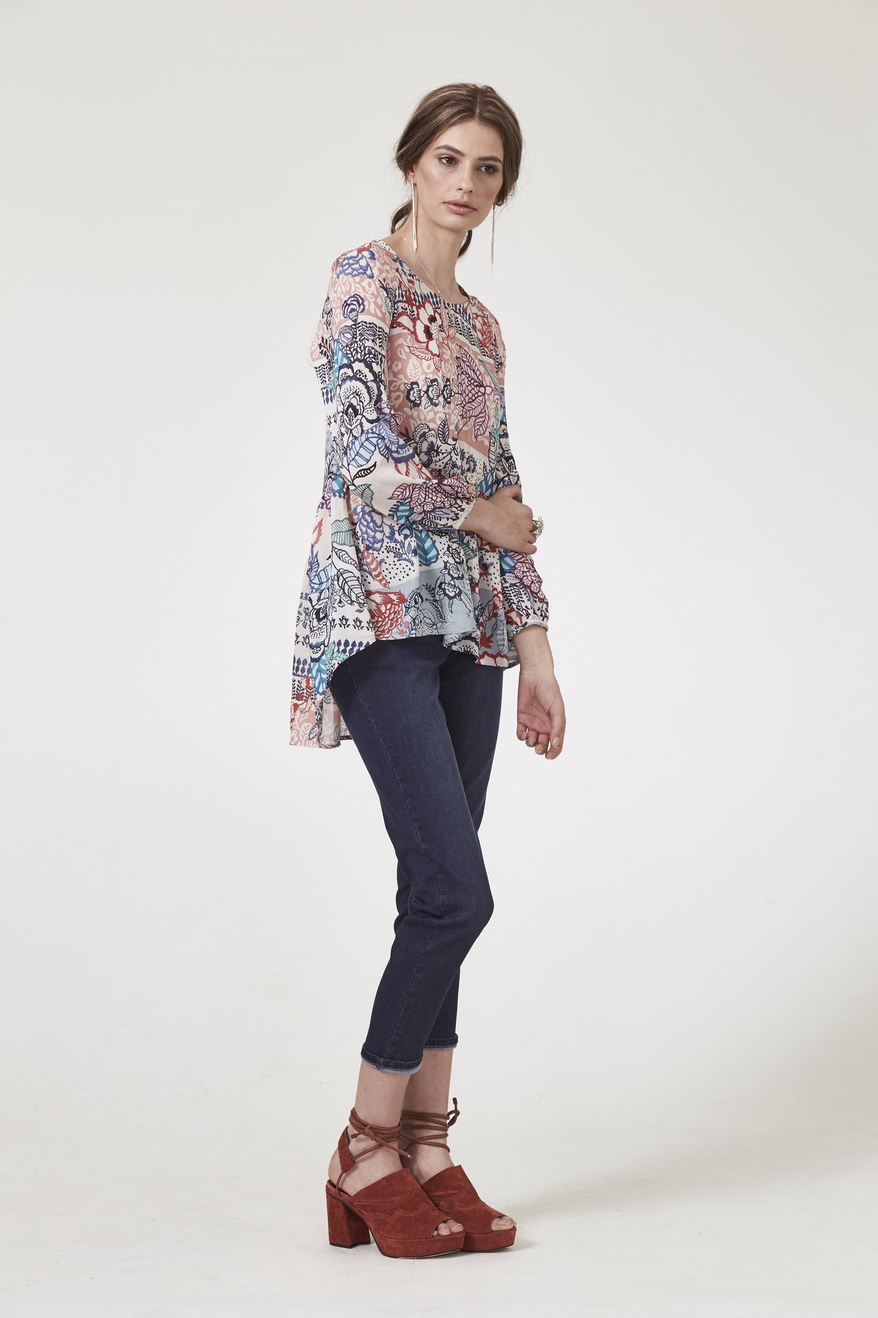 ls1277 Luxe Batik Blouse