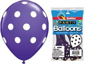 BIG POLKA DOTS LATEX BALLOONS 11