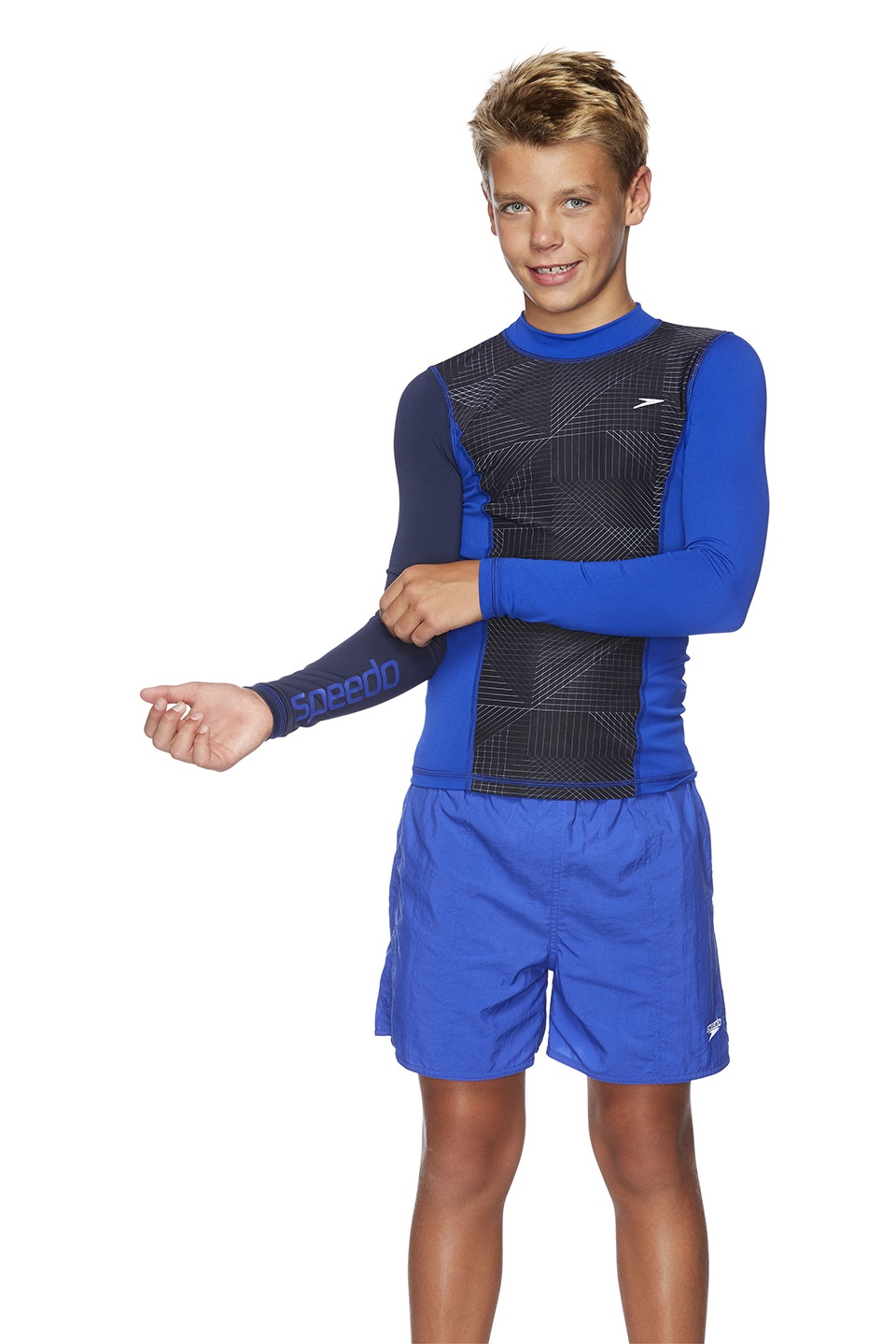 Boys Active Long Sleeve Rashie Speed/Trax