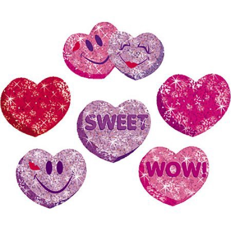 X DC T 63047 HEART SPARKLE STICKERS
