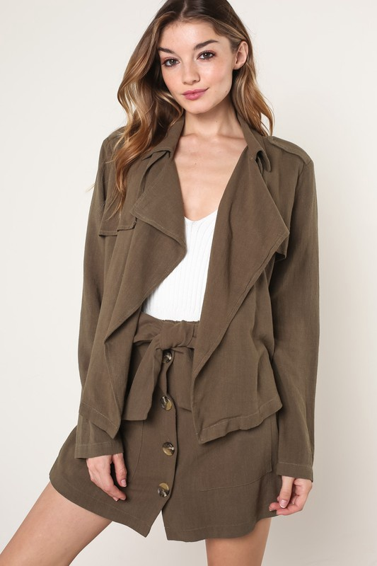 Olive Draped Jacket