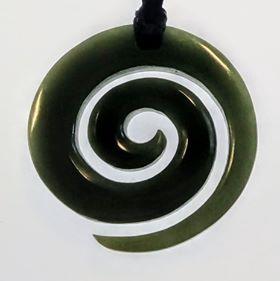 NZ Greenstone Koru Pendant