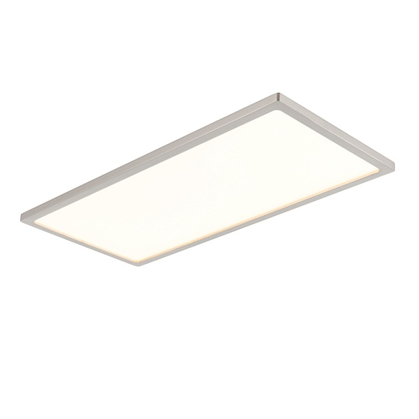 Ceres 450mm rectangle flush 20W - satin nickel