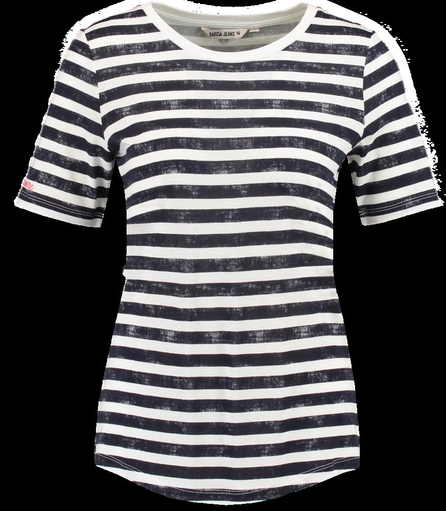Garcia Navy Stripe Tee S80003