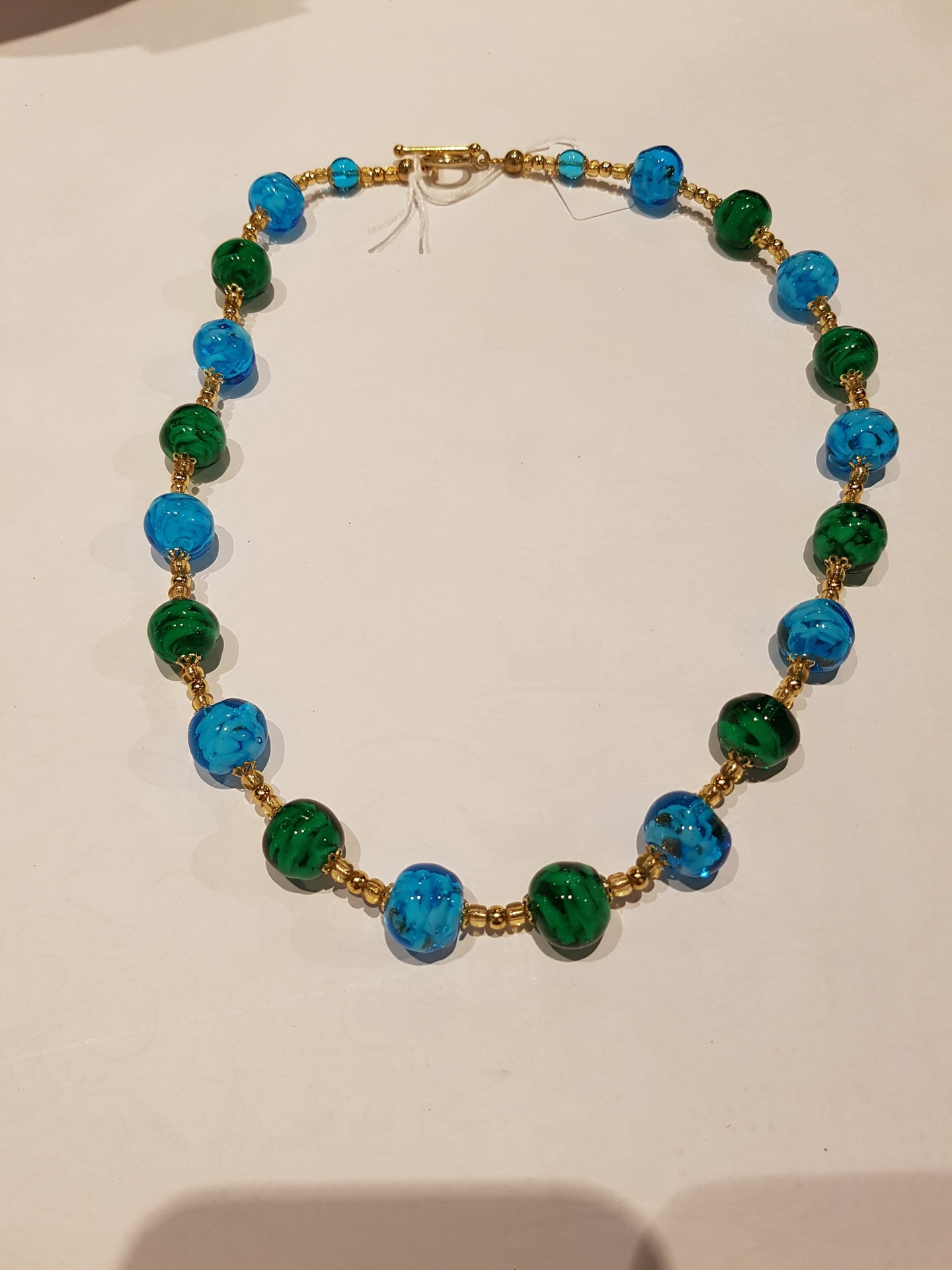 Venetian Turquise and Blue Glass Necklace