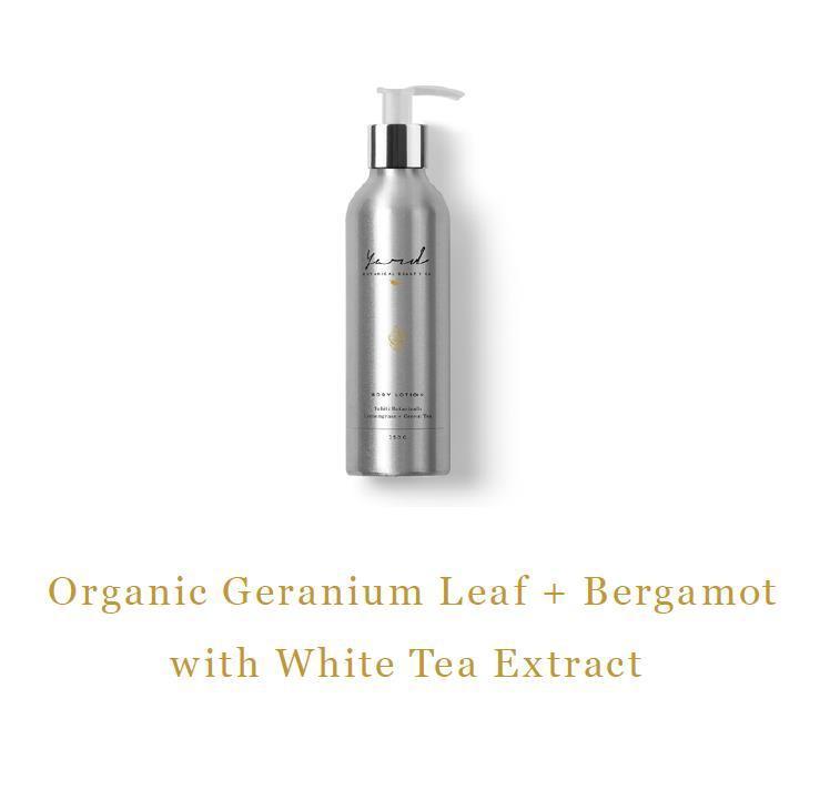 Organic Geranium Leaf & Bergamot Body Lotion