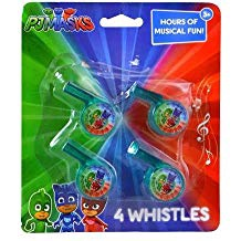 PJ MASKS 4 MINI WHISTLES