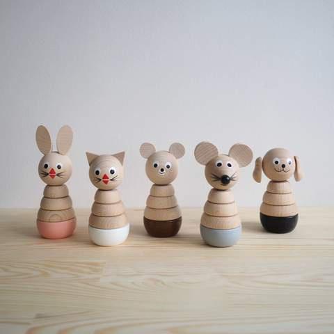 Sarah & Bendrix Wooden Stacking Toy