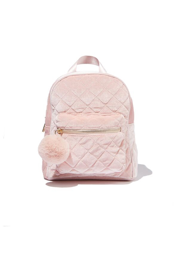 Milky QUILTED BACKPACK Pink