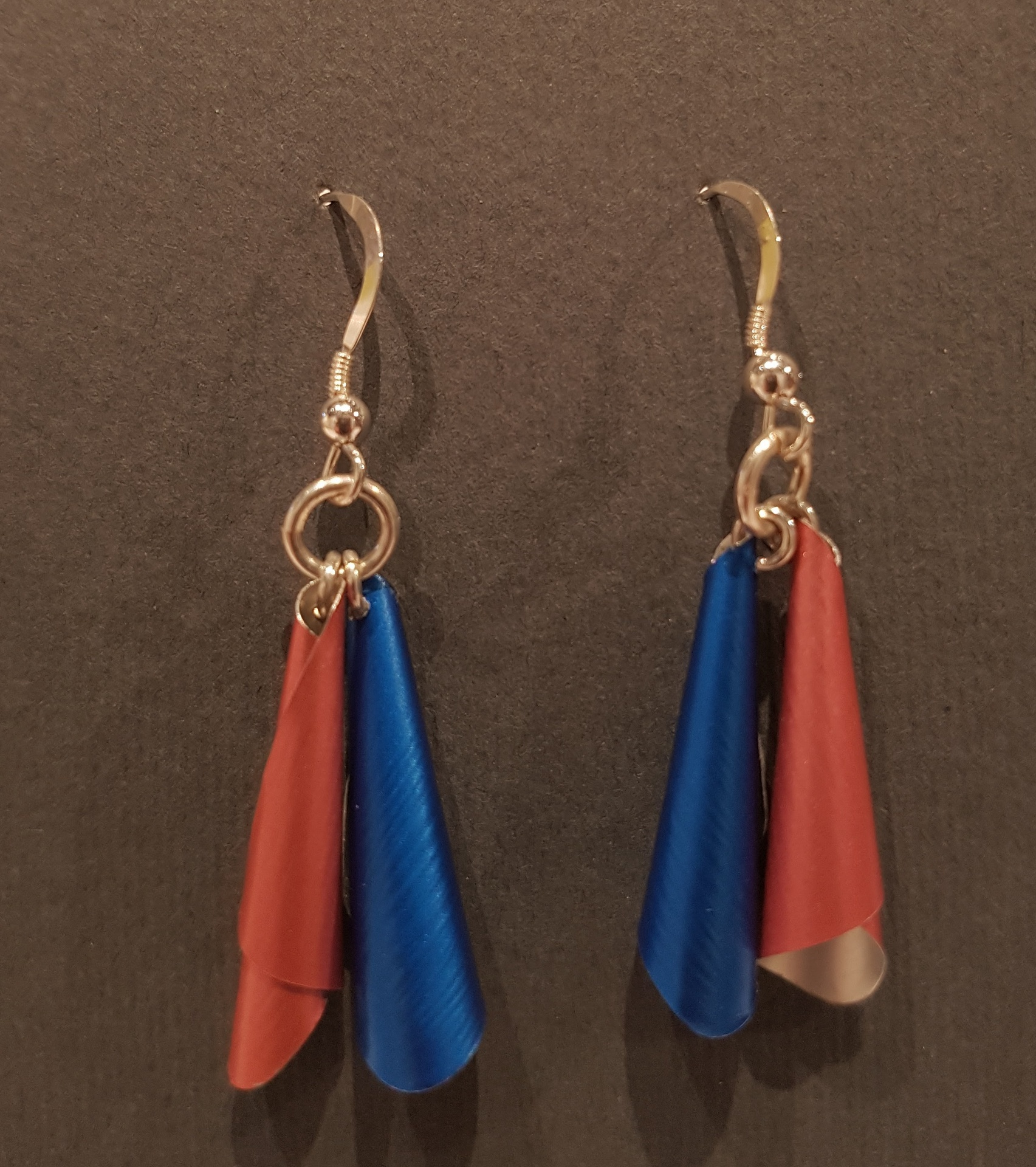 Electric Blue and Vintage Pink Earrings