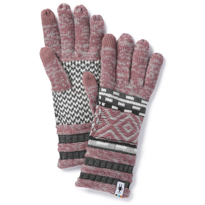 SMARTWOOL - DAZZLING WONDERLAND GLOVE IN NOSTALGIA ROSE HEATHER