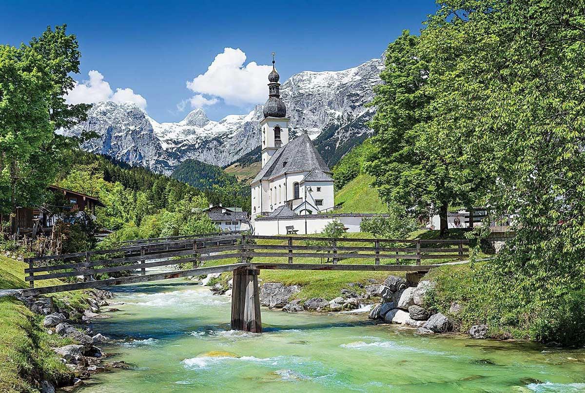 CHURCH IN RAMSAU GERMANY 1000 PCS