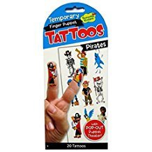 PIRATES FINGER PUPPET TEMPORARY TATTOOS