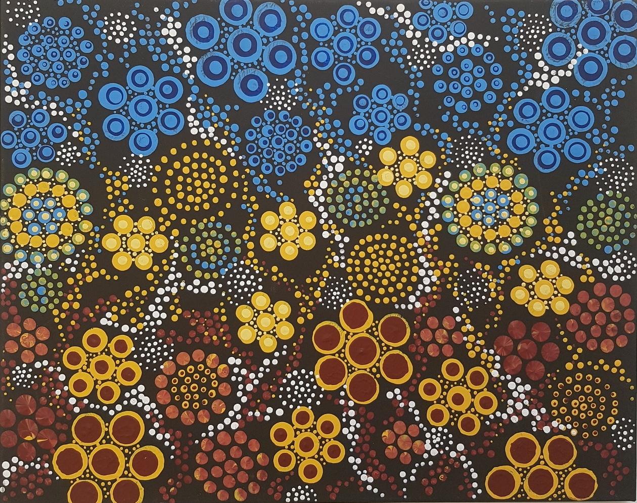 3D dot painting: Desert Bloom