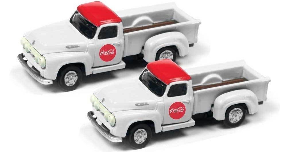 Classic Mini Metals #50394 N Scale 1954 Ford Pickups-Coca Cola