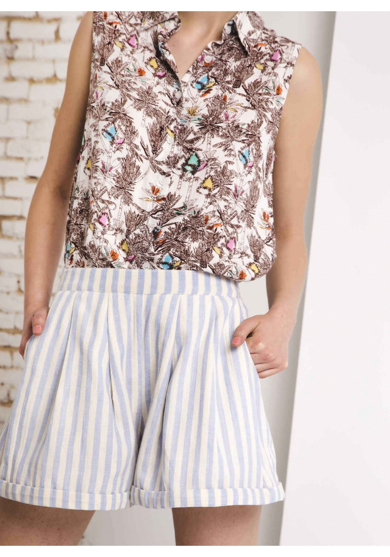 Compania Fantastica Stripe Shorts