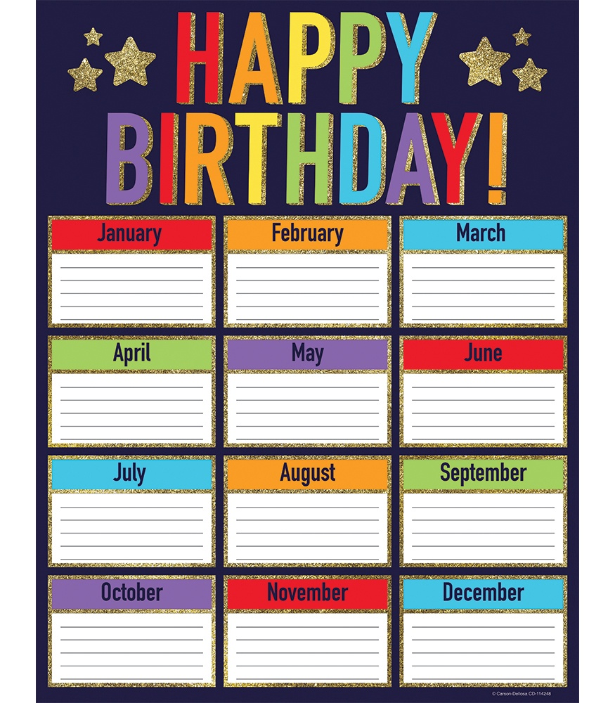 CD 114248 GLITTER BIRTHDAY CHART