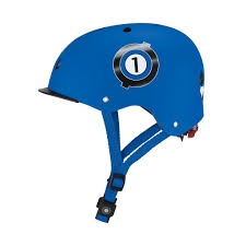 GLOBBER HELMET ELITE LIGHTS RACING BLUE
