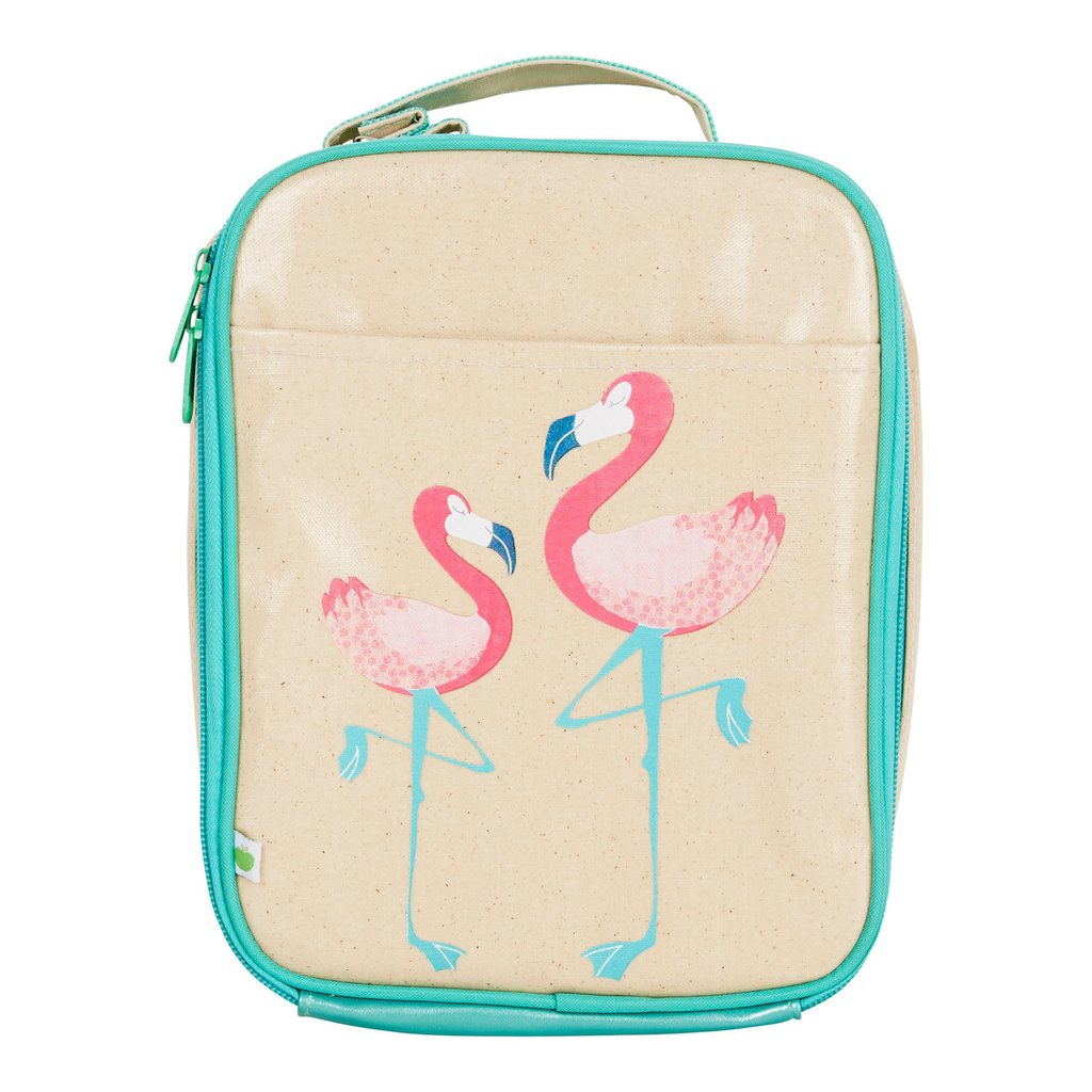 Apple and Mint Lunch Bag - Flamingo