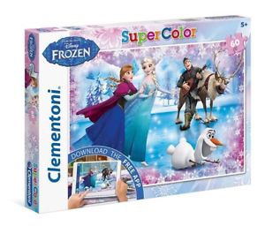 DISNEY FROZEN SUPER COLOR 60 PCS PUZZLE