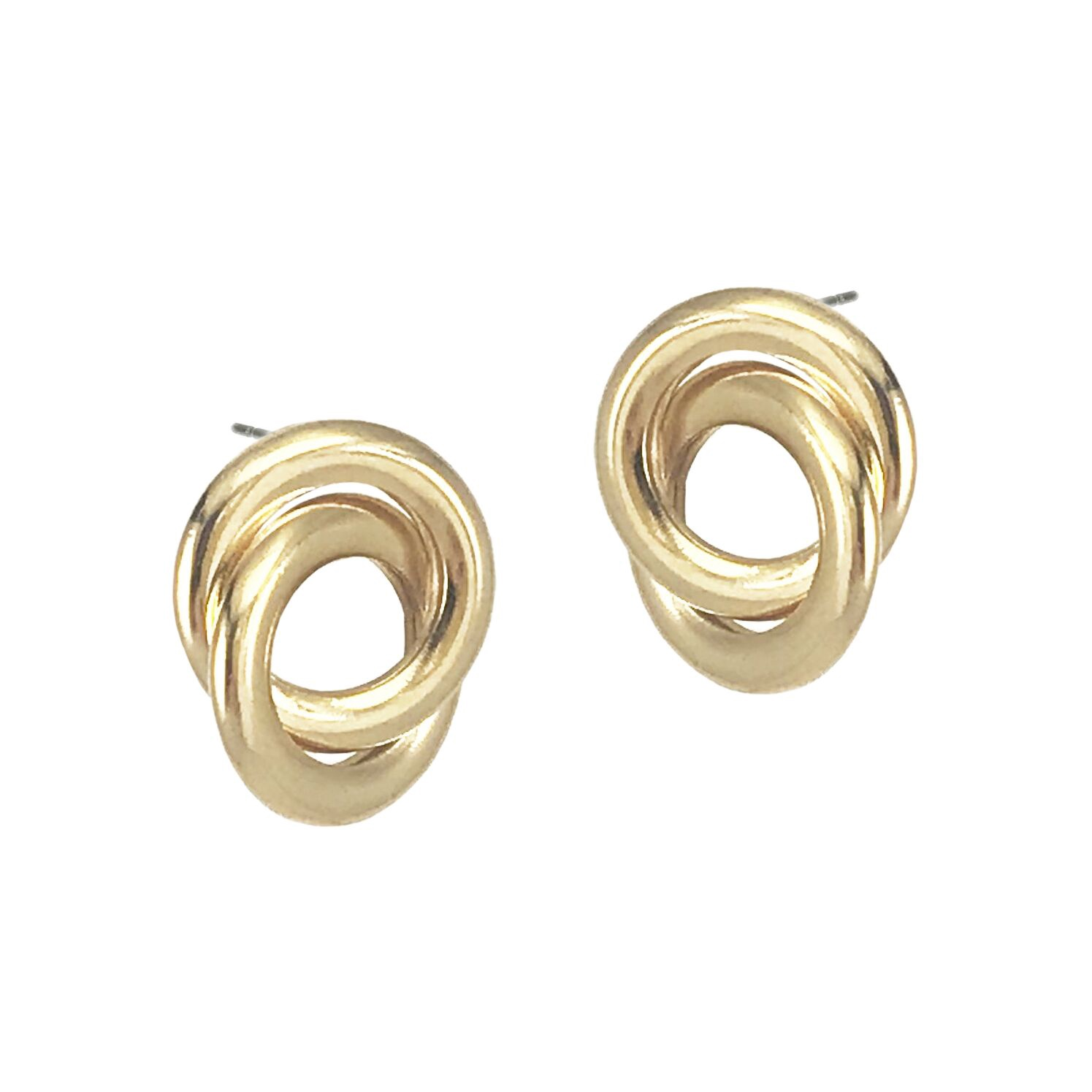BIKO - FORGET ME KNOT STUDS IN GOLD